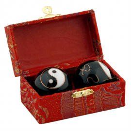 Boules Qi Gong - Yin-Yang noire