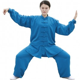Tenue turquoise en voile de coton