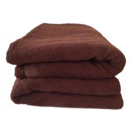 Lot de 2 Serviettes de massage Chocolat gamme spa 90 x 200 cm