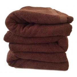 Lot de 3 Serviettes de massage Chocolat gamme spa 90 x 200 cm