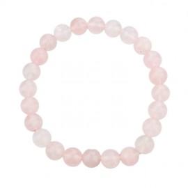 Bracelet pierres naturelles - quartz rose