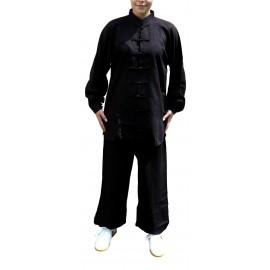 Tenue en coton et lin noire